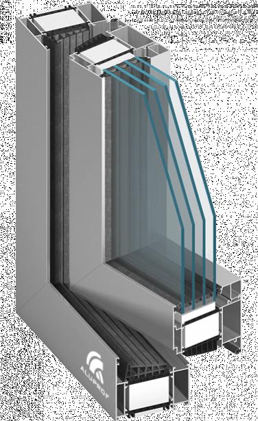 Raam deursysteem met thermische isolatie MB 104 PASSIVE