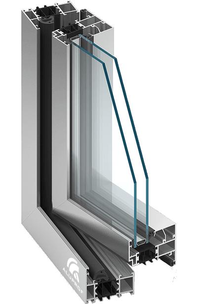 Raam deursysteem met thermische isolatie MB 70